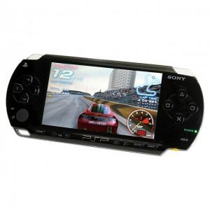 A black PSP